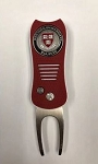 Harvard Crimson Switch fix Golf Divot Repair Tool